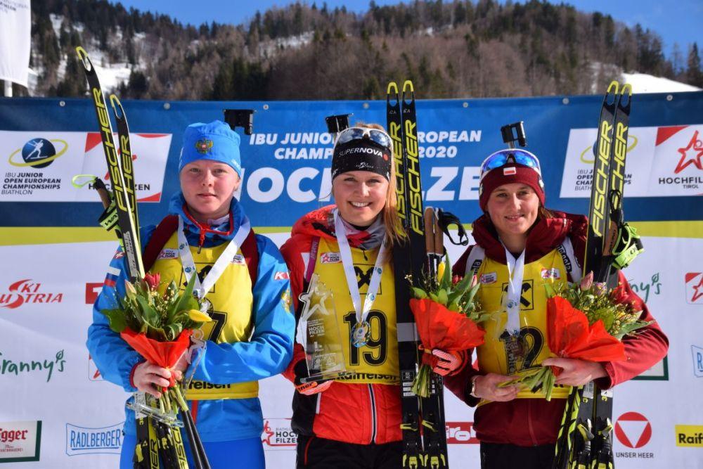 Siegerehrung Biathlon Hochfilzen